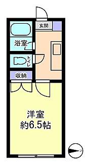 物件番号: 1110306346 セルーラ呉羽駅前  富山市呉羽町 1K アパート 間取り図