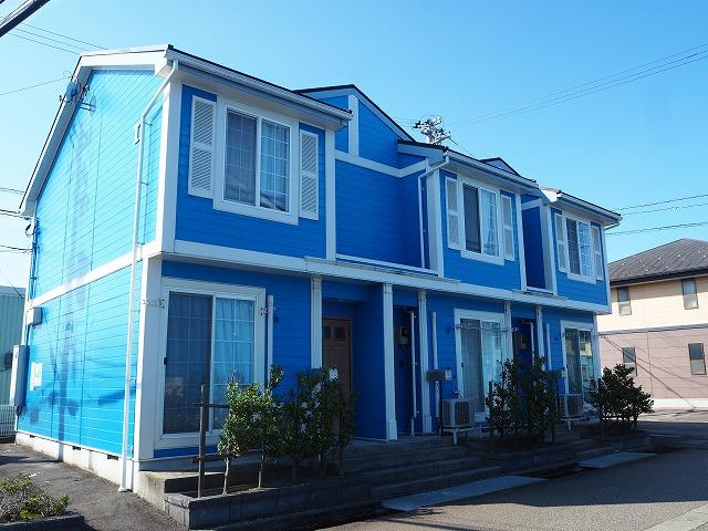 物件番号: 1110309424 リバーサイド・ドリームⅠ  富山市西荒屋 2LDK アパート 外観画像