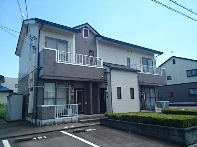 物件番号: 1110309901 ヴィラ・ノールB  富山市太田 1LDK アパート 外観画像