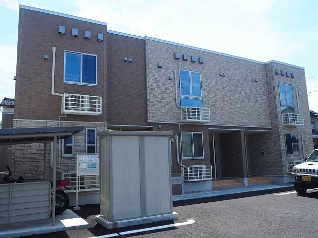 物件番号: 1110309658 アクエリアスAKADA 富山市赤田 1LDK アパート 外観写真
