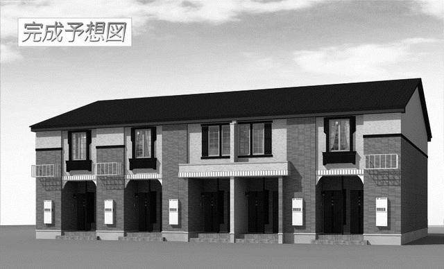 物件番号: 1110309855 ラ・セーヌ ミヨイ Ⅱ  富山市山室 1LDK アパート 外観画像
