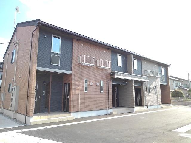 物件番号: 1110309859 ラ・セーヌ ミヨイ Ⅲ  富山市山室 1LDK アパート 外観画像